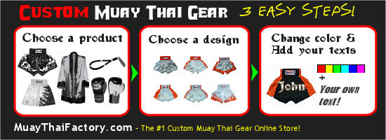 custom muay thai