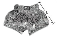 RAJA Boxing Muay Thai shorts size