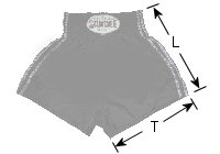 SANDEE Muay Thai shorts size