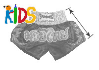 Twins Special Muay Thai shorts size for kids, boy, girl, child, children