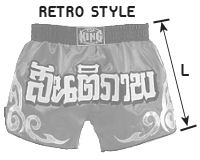 TOP KING Retro Muay Thai size